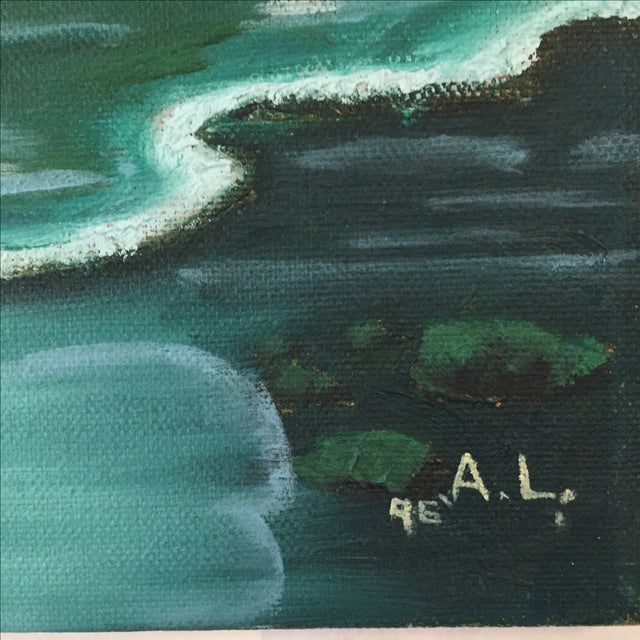Ocean Acrylic Painting - Image 3 of 9
