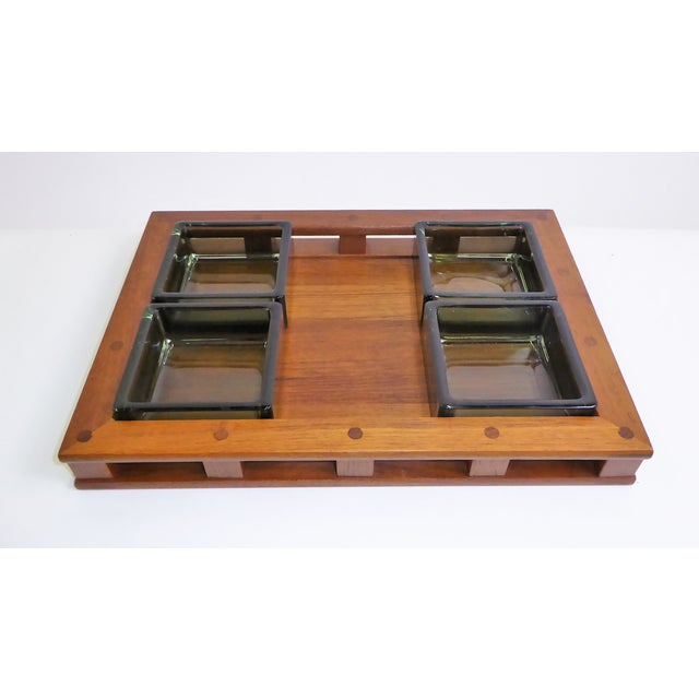 Dansk IHQ Modern Teak Tray with Glass Inserts, Quistgaard, Denmark For Sale - Image 13 of 13