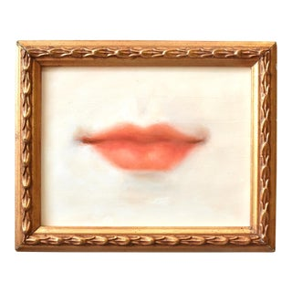 Contemporary Lover's Lips Painting by Susannah Carson For Sale