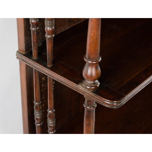 Brown 19th Century English Traditional Mahogany 3 Shelf Etagere For Sale - Image 8 of 13