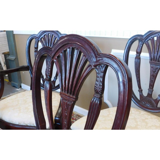 Hickory White Dining Room Furniture: Hickory White Shield Back Mahogany Sheraton Style Dining