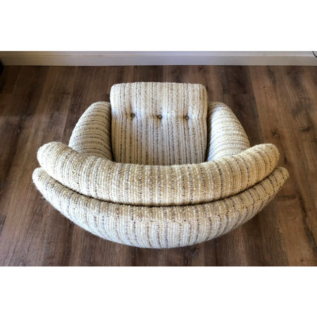 Mid-Century Swedish Tufted Egg Swivel Chair With Swivel Ottoman For Sale In Seattle - Image 6 of 12