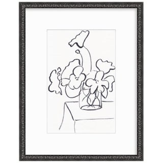 2019 Poppies Framed Line Drawing by Christine Lindstrom For Sale
