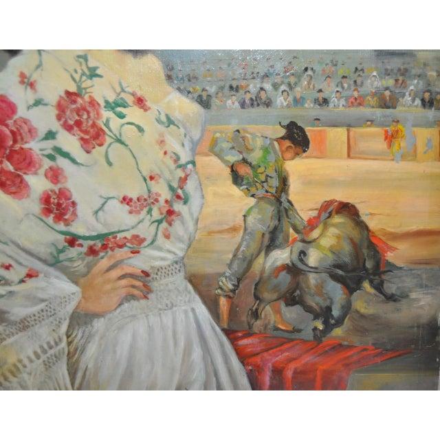 """Matador and the Señorita"" Oil on Canvas - Image 6 of 10"