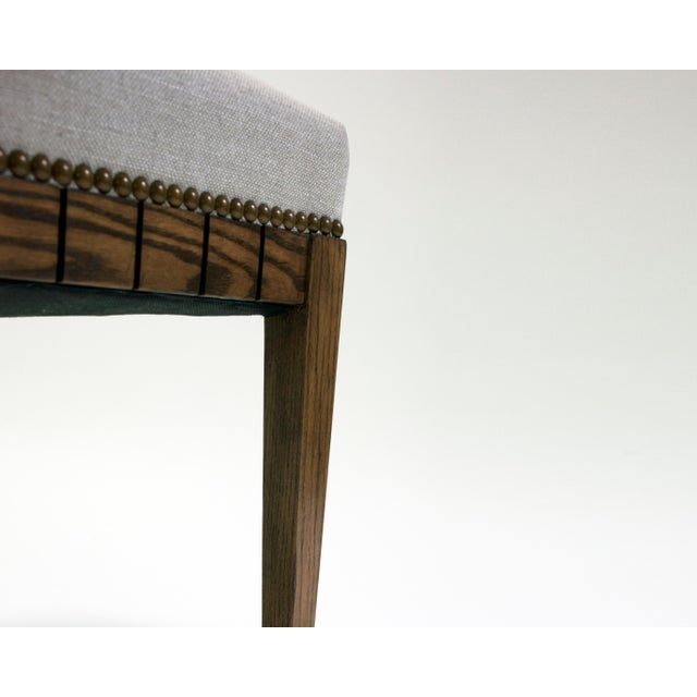 Not Yet Made - Made To Order Wood Bench With Solid Seat and Hand-Carved Detail on Frame For Sale - Image 5 of 7