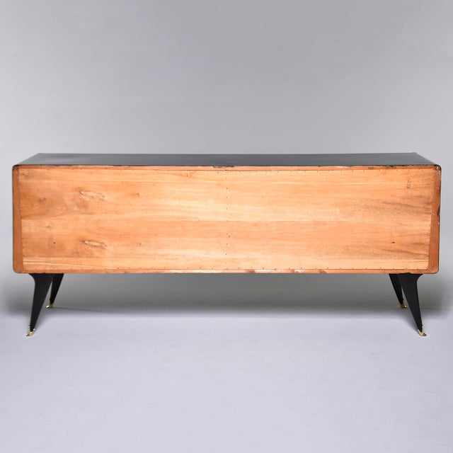 Italian Ebonised Sideboard With Brass Knobs For Sale - Image 4 of 13