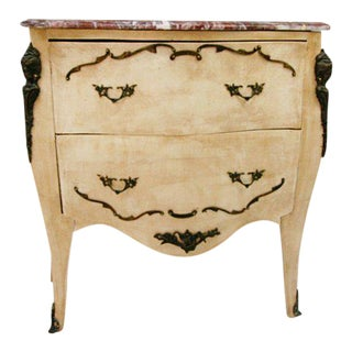 Antique Painted Bronze Mounted Louis XV Commode Chest