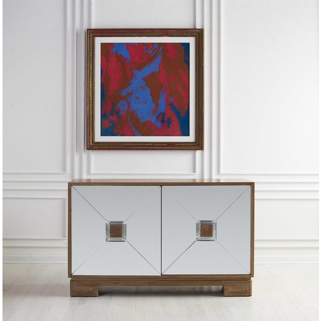 Bleached Mahogany Mirrored Sideboard Attributed to Tommi Parzinger For Sale - Image 9 of 10