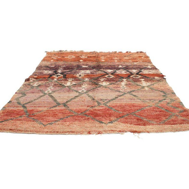 Abstract Vintage Berber Moroccan Rug with Modern Tribal Style For Sale - Image 3 of 5
