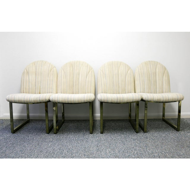 Hollywood Regency Thayer Coggin Mid-Century Dining Chairs - Set of 4 For Sale - Image 3 of 13