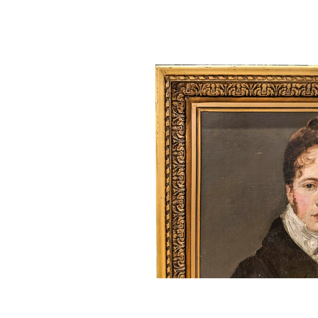 Manner of John Constable, RA (British 1776-1837) Self Portrait Oil Painting on Canvas For Sale - Image 4 of 7