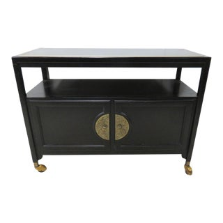 Mid-Century Black Server Bar Cart