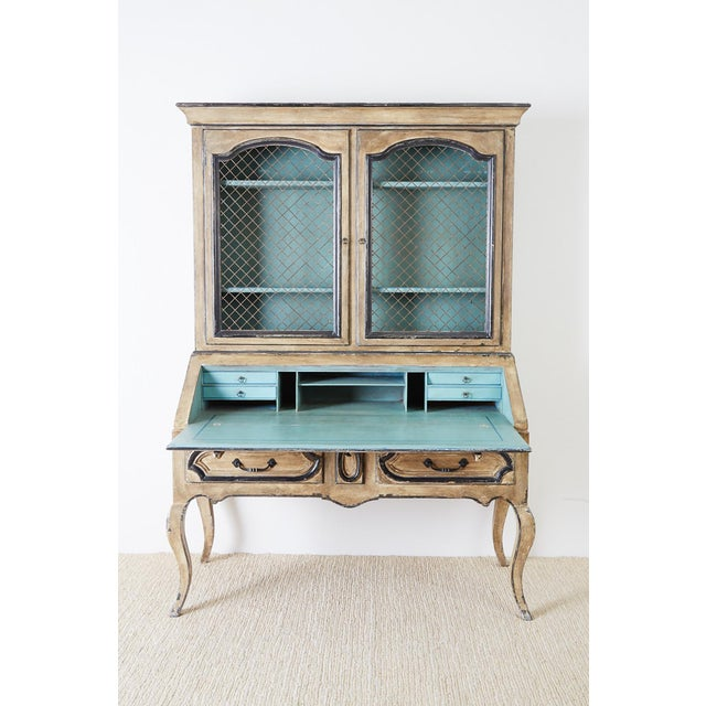 Gustavian (Swedish) Swedish Gustavian Style Two-Part Secretaire Bookcase For Sale - Image 3 of 13