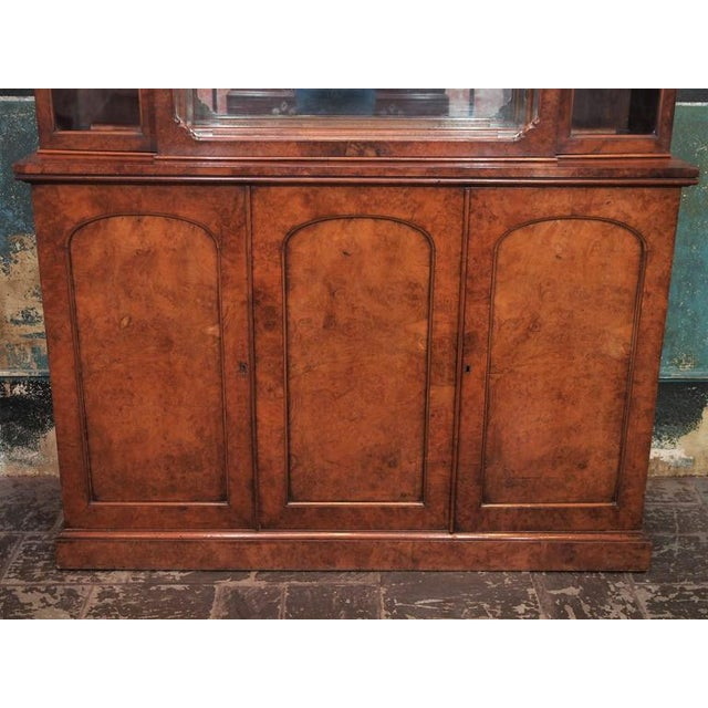 """English Burl Walnut """"Cocktails"""" Bar Cabinet-1920's For Sale In New Orleans - Image 6 of 9"""