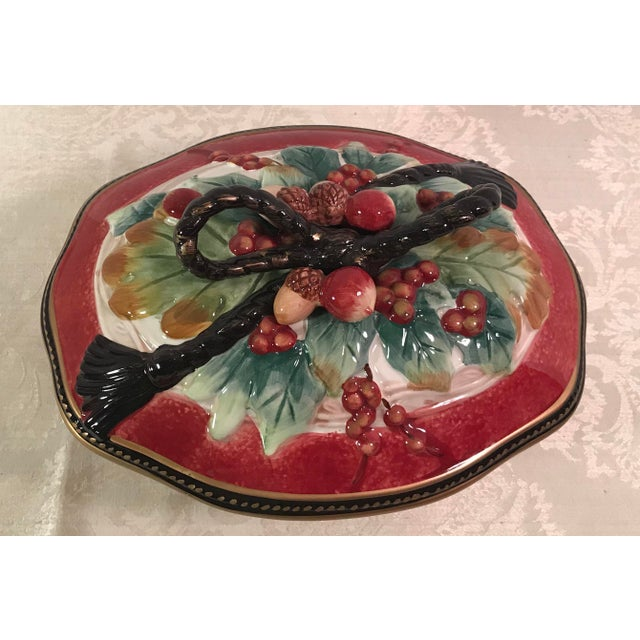 Fitz & Floyd Holiday Covered Serving Dish - Image 3 of 11