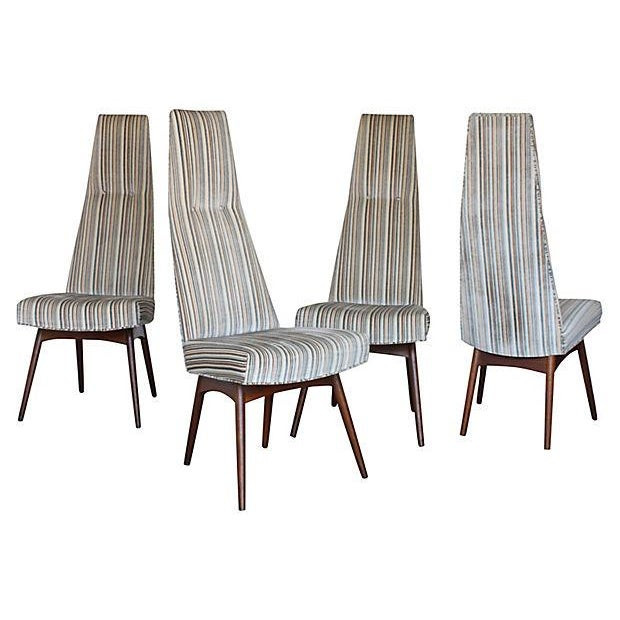 Adrian Pearsall High-Back Dining Chairs - Set of 4 | Chairish