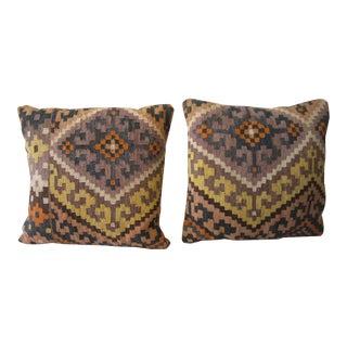 Vintage Kilim Accent Pillows - A Pair