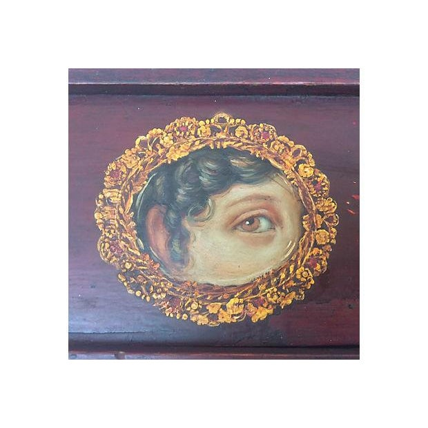 Antique Painted Eye Mystery Box - Image 4 of 6