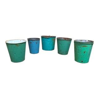 19th Century Vermont Sap Buckets - Set of 6