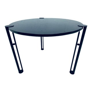 Postmodern Steel and Granite Dining or Center Table, 1980s For Sale
