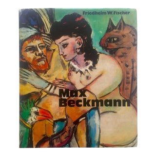 Max Beckmann Rare Vintage 1973 1st Edition Lithograph Print Collector's German Expressionist Hardcover Modern Art Book For Sale