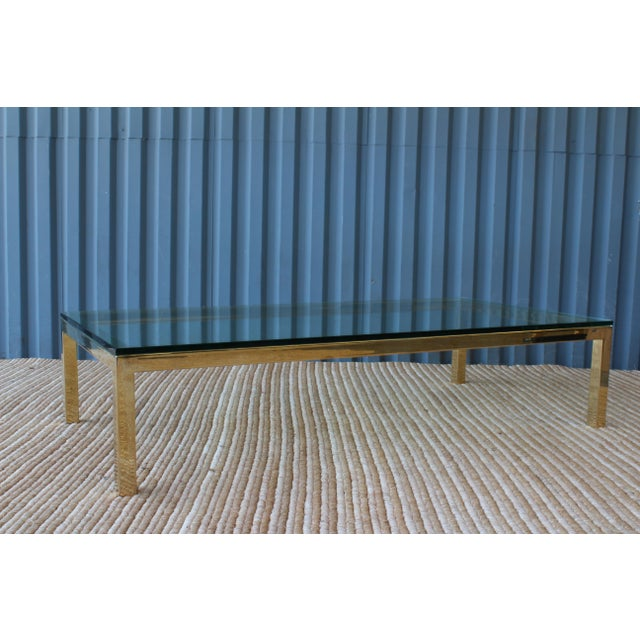 Brass Brass Plated Coffee Table by James Howell, 1970s, USA For Sale - Image 7 of 11