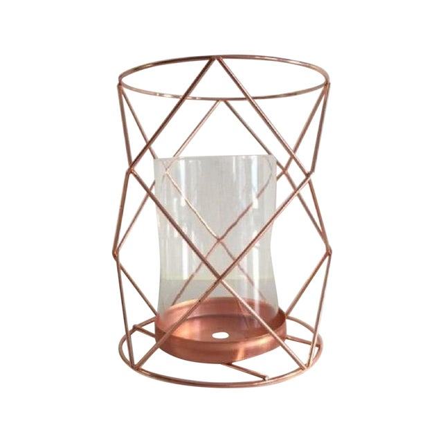 Copper Candle Coffee Table Display - Pair - Image 1 of 6