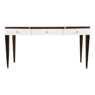 Clifton Brown & White Desk