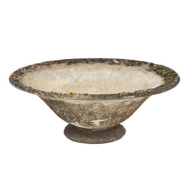 Vintage French Cement Jardiniere For Sale - Image 10 of 10
