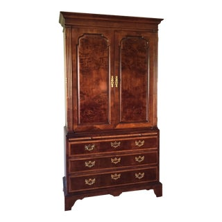 1990s Vintage Henredon Aston Court Armoire For Sale