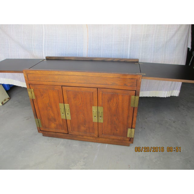 Henredon Campaign Buffet Server For Sale - Image 7 of 8