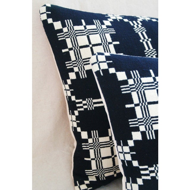 Custom 19th-C. New England Coverlet Pillows - Pair - Image 10 of 11