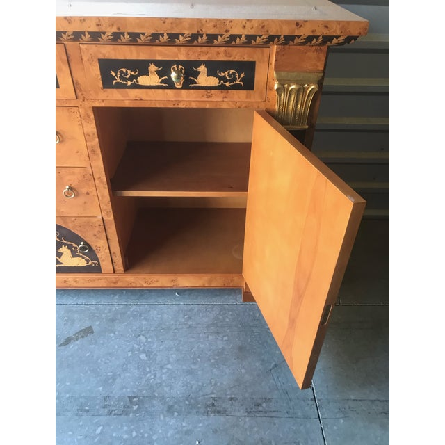 Biedermeier Style Empire Sideboard Credenza Cabinet by Francesco Molon For Sale In Philadelphia - Image 6 of 12