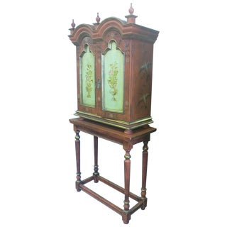 Hand Painted Russian Style Cabinet For Sale