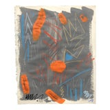 Image of Abstract Painting With Pastel 1990s For Sale