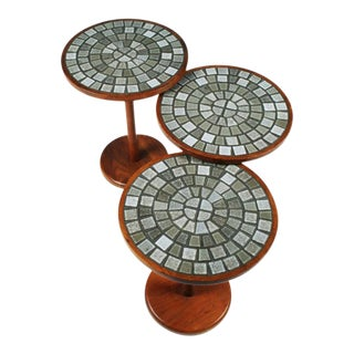 Gordon Martz Tile Top Occasional Tables - Set of 3 For Sale