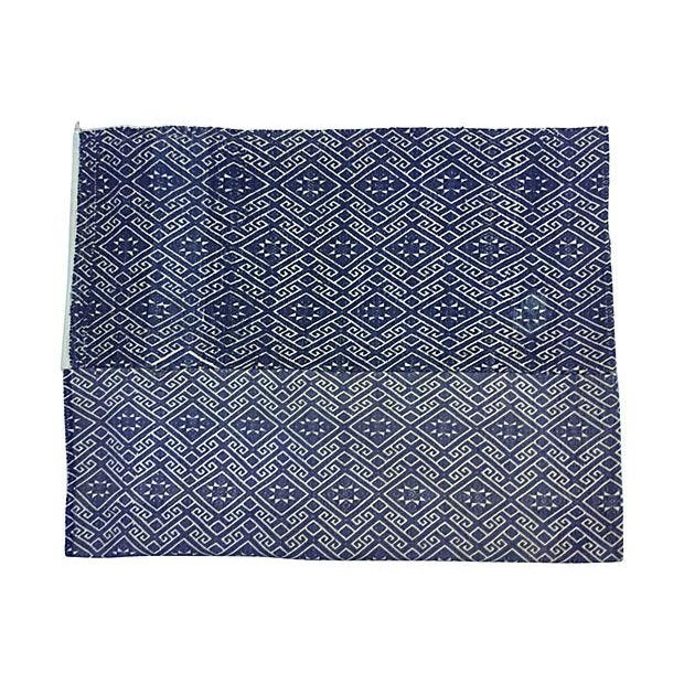 Hill Tribe Blue & White Dowry Wedding Quilt - Image 2 of 5