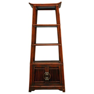 Three-Tier Bamboo Pagoda Etagere For Sale