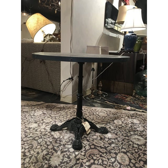2010s French Zinc Top Bistro Table For Sale - Image 5 of 12