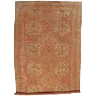 "Pasargad DC Antique Turkish Oushak Hand-Knotted Rug - 14'8"" X 26'3"" For Sale"