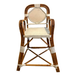 Mid-Century Bentwood Rattan Boho Chic Bamboo Child's Chair For Sale