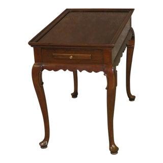 1960s Queen Anne Ethan Allen Tea Table For Sale