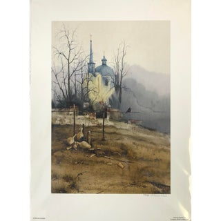 """""""Monastery"""" Oringinal Print Hand Signed For Sale"""
