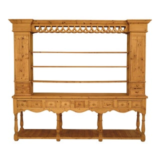 Country Natural Pine Double Sided Open Hutch