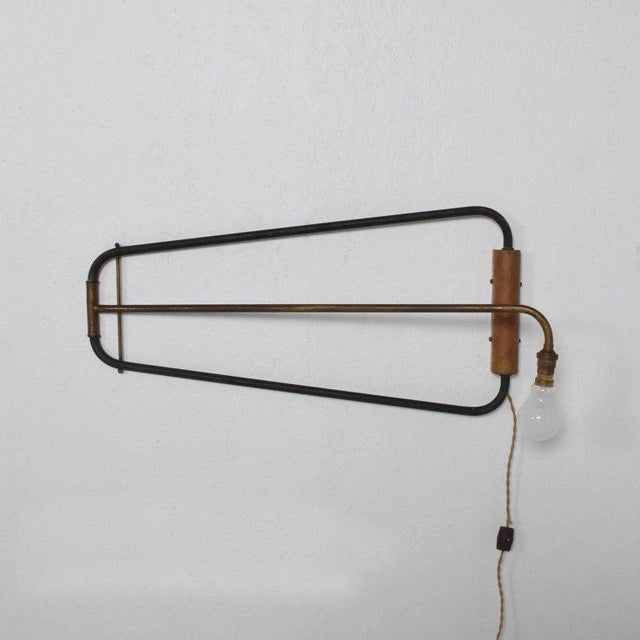 French Mid-Century Modern French Industrial Wall Sconce After Jean Prouve For Sale - Image 3 of 10