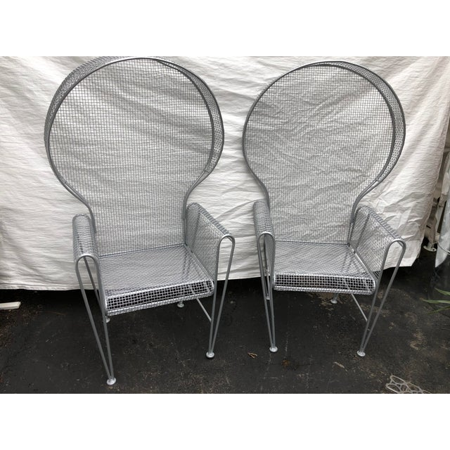 Pair of High Back Outdoor Canopy Chairs by Russell Woodard For Sale - Image 11 of 12