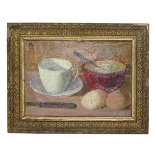 Breakfast Still Life Painting by Albert Elmstedt For Sale