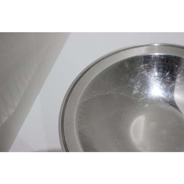 Silver Plated 1950s Embossed Edge Bowl or Dish by Wmf Ikora Germany For Sale In West Palm - Image 6 of 12