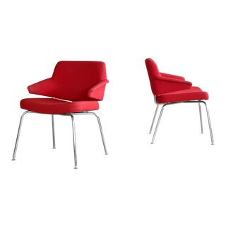 Danish Midcentury Airport Style Lounge or Side Chairs by Duba Møbelindustri For Sale