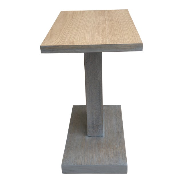 Architectural Modern Side Table For Sale